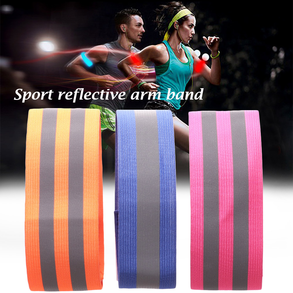 running - 1pc Warning Wristband Safety Armband Bicycle Bind Pants Hand Leg Strap Reflective Tape Running Cycling Reflective Strips Outdoor