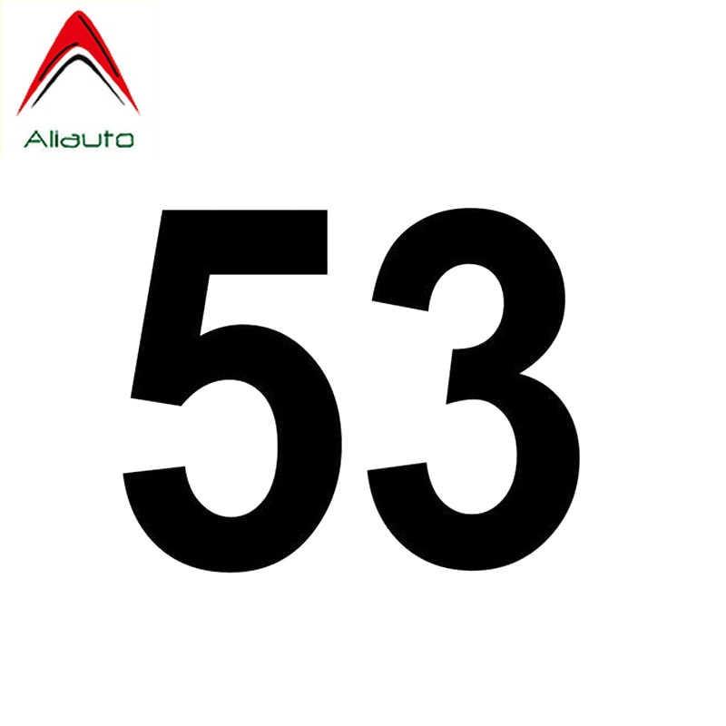 Aliauto moda numarası 53 araba Sticker vinil dekorasyon güneş kremi su geçirmez yansıtıcı kişilik çıkartması PVC, 14cm * 11cm