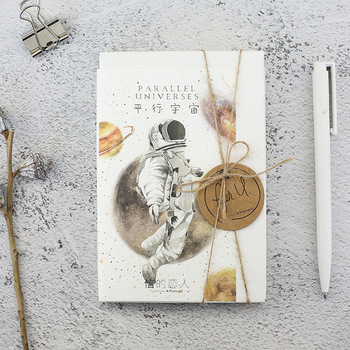 Starry Sky Box Glow-in-the-dark Postcard Astral Space Man Series Greeting Card Bookmarks Aesthetes Stationery 30sheets
