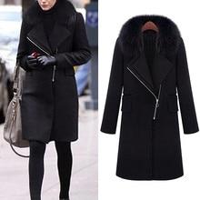 Новые женские зимние пальто, шерстяное пальто с отворотом, тренчкот, пальто, Женское пальто с карманами, уличное теплое пальто большого размера, женские пальто 824
