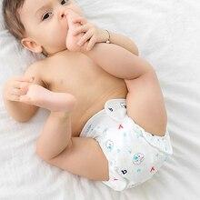 Детские хлопковые тренировочные штаны трусы детские подгузники многоразовые тканевые Подгузники моющиеся Младенцы детское нижнее белье пеленка