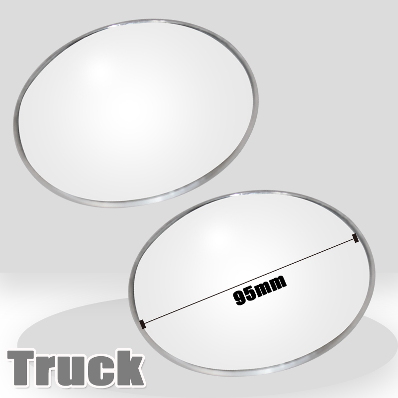 2Pcs 95mm Truck Coach tourist bus car accessories Blind Spot Mirror Wide Angle Convex Rear View Mirror Parking Rearview Mirror