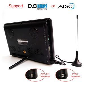 Image 3 - LEADSTAR D768 7 дюймовый портативный телевизор, цифровой и аналоговый мини Телевизор с поддержкой USB TF MP4 H.265 AC3