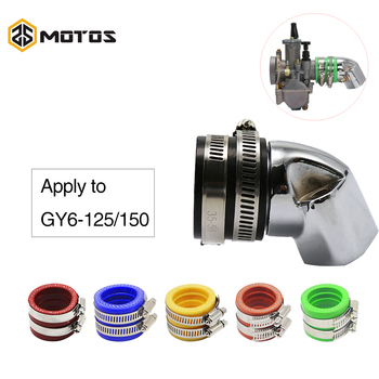 ZS MOTOS interfaz de carburador para motocicleta de aluminio colector de admisión de 35mm con carburador de interfaz para Scooter GY6 125 GY6 150