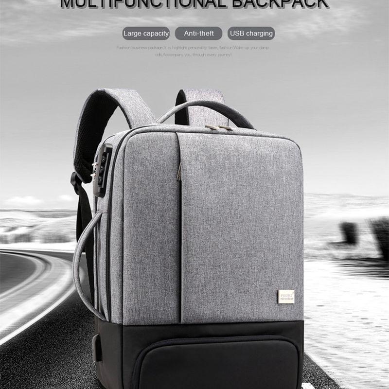 Litthing Men Laptop Usb Backpack School Bag Rucksack Anti Theft Men Backbag Travel Daypacks Male Leisure Backpack Mochila