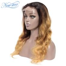 Бразильские волосы с эффектом деграде(переход от парик new star T1B/4/27 волосы волнистые человеческие волосы парик 180% Плотность Сделай Сам» с возможностью 4x4 закрытие парик для черных Для женщин