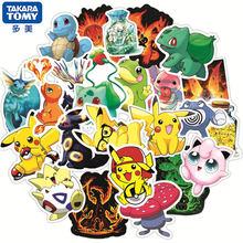 50 pçs bonito desenhos animados anime pokemon adesivos kawaii skate guitarra portátil viagem bagagem do carro adesivo à prova dwaterproof água menina crianças brinquedos