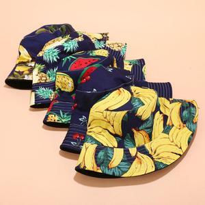 Новинка 2020, шляпа-ведро в рыбацком стиле, унисекс, модная, с тропическим фруктовым принтом, мужская и женская, в западном стиле, теплая, ветро...