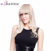 SNOILITE Short Front blunt bangs Clip in bang fringe Hair extensions straight Synthetic 100% Real Natural hairpiece(China)