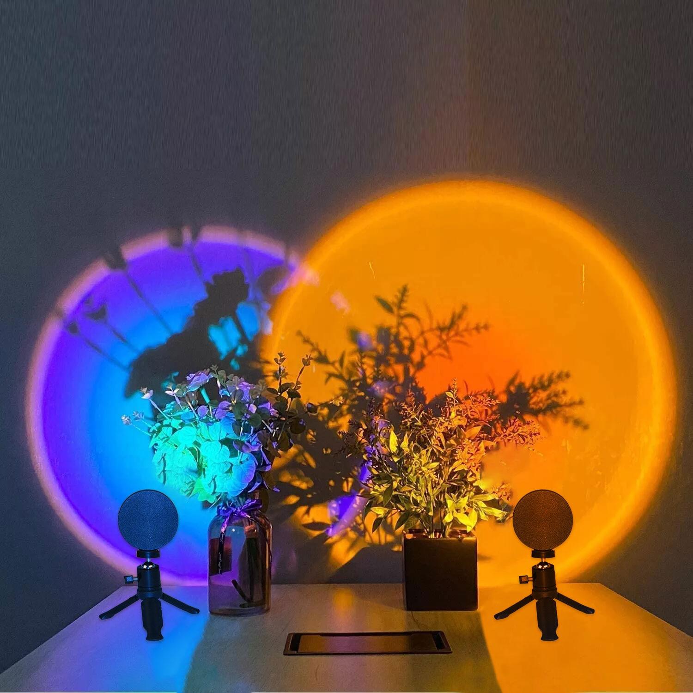 Night Light Sunset Lamp USB Rainbow Led Lamps Home Bedroom Background Wall Decoration Lighting