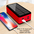 99000mAh Solar Power Bank with Large Capacity LED Light Outdoor Travel Emergency Portable Poverbank for Iphone Xiaomi Samsung