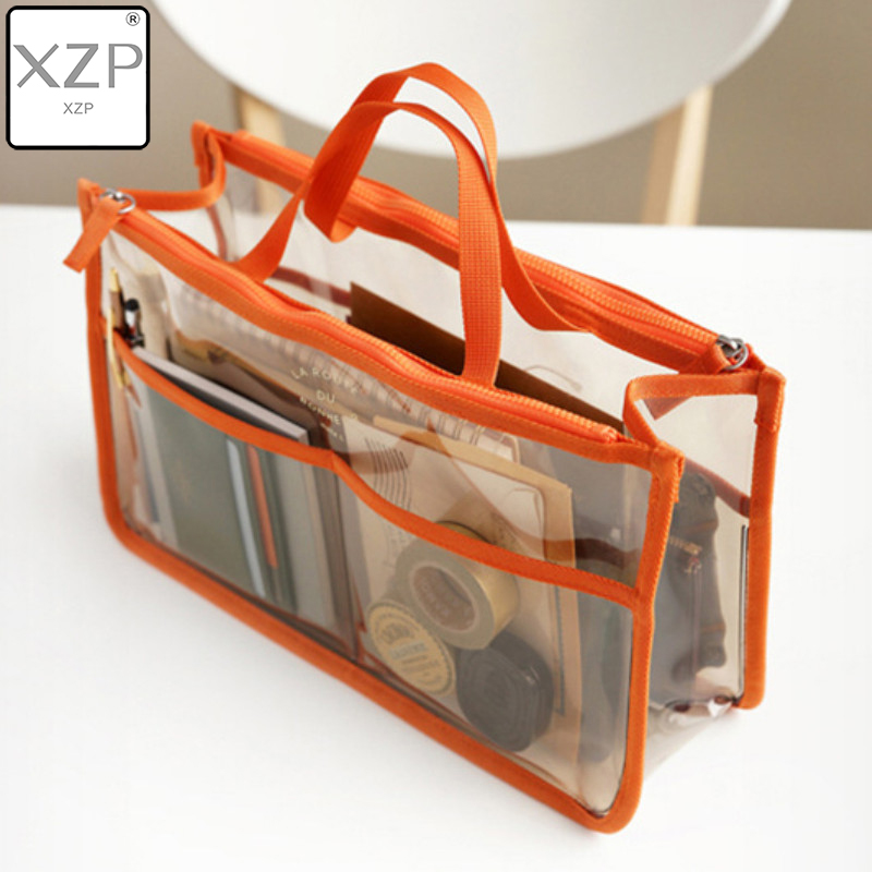 XZP PVC Transparent Cosmetic Bag Women Travel Makeup Case Waterproof Toiletry Wash Pouch Clear Necessary Organizer Storage BoX