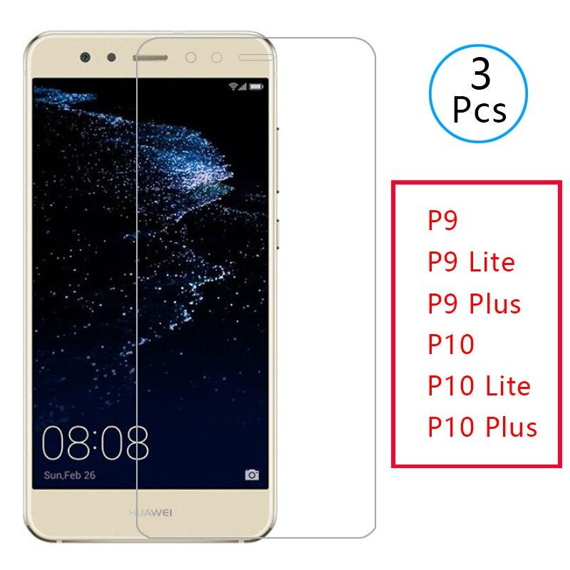 Skrzynka dla huawei p9 p10 lite plus 2017 pokrywa szkło hartowane screen protector na p 9 10 lekka folia ochronna telefon ochronny coque