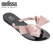 Jelly Flip Flop Sandals Flat-Slippers Melissa Women Adulto Bow-Iii Harmonic New