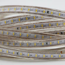 SMD 3014 Dimmable 220V Super Bright LED Strip Light 1M-12M flexible Rope Light Kitchen Outdoor Garden Lamp Tape with Upgrade 4A(China)