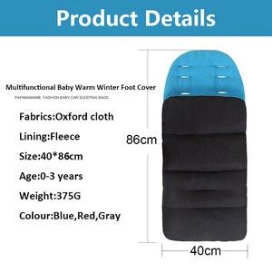 Image 3 - Colchón impermeable para bebé en cochecito, reposapiés, sacos para dormir de invierno, cubierta para pies de bebé