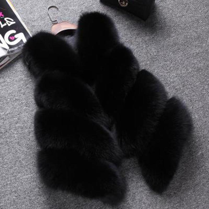Casual Fox Fur Vest For Women Autumn Winter New Luxury Comfortable Solid Color Thick Warm Soft Real Fox Fur Vest Female