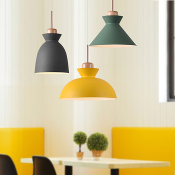 Nordic Modern Simple Dining Room Colourful Pendent Lamp Personality Creative Bar Counter New Pendent Light E27 LED Bulb Lighting