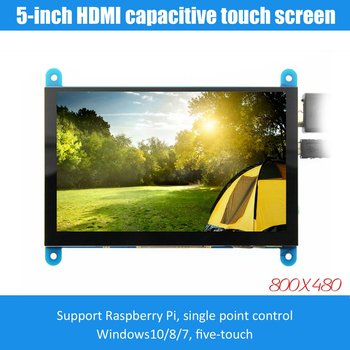5-inch LCD monitor HDMI 800X480 HD touch screen capacitive screen for Raspberry Pi 4 Model B 3B+/3B/2B/B+ dropshipping raspberry pi 3b 5 inch lcd hdmi touch scree 800x480 tft 5 display screen with acrylic case for raspberry pi 2 raspberry pi 3b