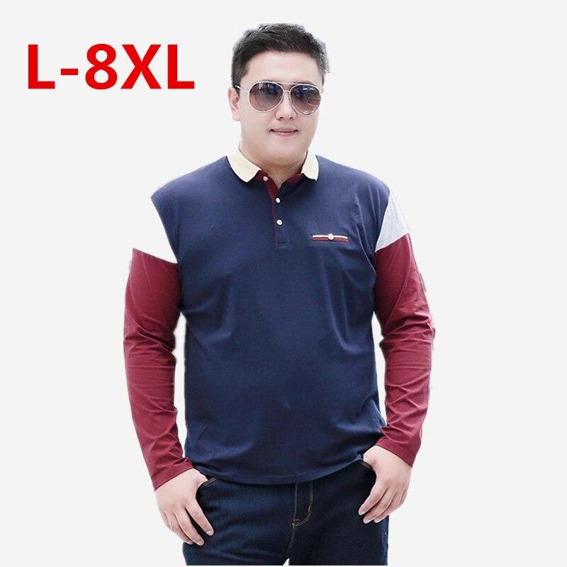 New Large Size 8XL 7XL 6XL 5XL Spring Autumn Men's  Shirt Busines Casual Solid  Shirt Brand Men's Long Sleeve  Camisa Shirt