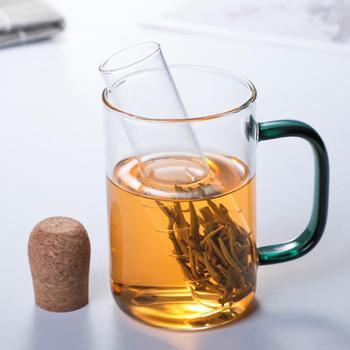 Przezroczysty wyciek herbaty odporny na ciepło szklany ekspres do herbaty filtr do herbaty kubek do herbaty zagęszczony zestaw infuzyjny do herbaty szklany napar kuchenny duży tanie i dobre opinie CN (pochodzenie) Other