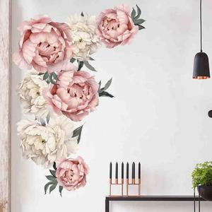 Image 1 - Pfingstrose Rose Blumen Wand Aufkleber Kunst Kindergarten Aufkleber Kinderzimmer Home Decor Geschenk muurstickers voor kinderen kamers decals