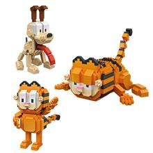 LegoINGlys creators classic cartoon figures cat Garfield dog Odie mini micro diamond building blocks model bricks toys for gifts