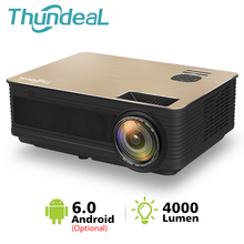 ThundeaL HD Projector TD86 4000 Lumen Android 6.0 WiFi Bluetooth Projector Support Full HD 1080P LED M5 M5W 3D Video Projector