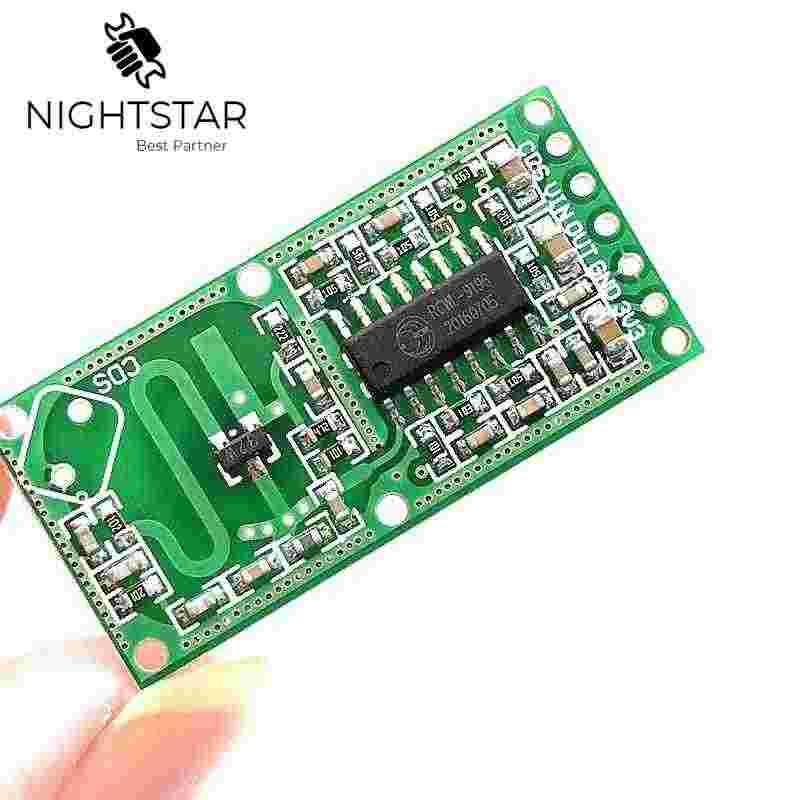 RCWL-0516 RCWL 0516 Sensor de Radar de microondas Sensor de cuerpo humano Módulo de interruptor de inducción módulo de salida 3,3 V