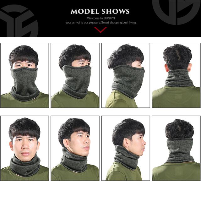 Magic Headband Winter Fleece Neck Warmer Gaiter Half Face Mask Cold Weather Scarf 2