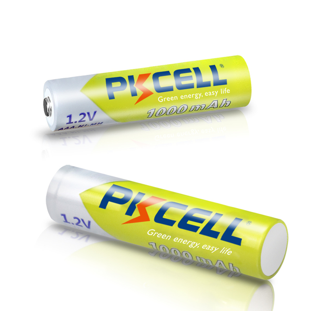 8Pcs PKCELL AAA Battery 1.2V Ni-MH AAA Rechargeable Batteries 1000MAH 3A aaa flashlight battery with 2PC AAA/AA Battery Holder 5