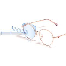 Tytanowe okulary z lekkiego stopu rama kobiety styl pełne obręczy okulary okulary blokujące niebieskie światło okulary New Arrival okulary okrągłe okulary tanie tanio Handoer WOMEN Tytanu Stałe 1003 Titanium Alloy Frame Glasses FRAMES Okulary akcesoria