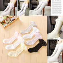 Cute Newborn Baby Cotton Lace Princess Lot Frilly high leg Socks Babies Girl Babe Summer Lacework Laciness Lovely Sockses