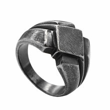 KLDY men ring stainless steel Nordic ring vintage antique black scandinavian ring steel Nordic party jewelry 2019 anillo nordico(China)