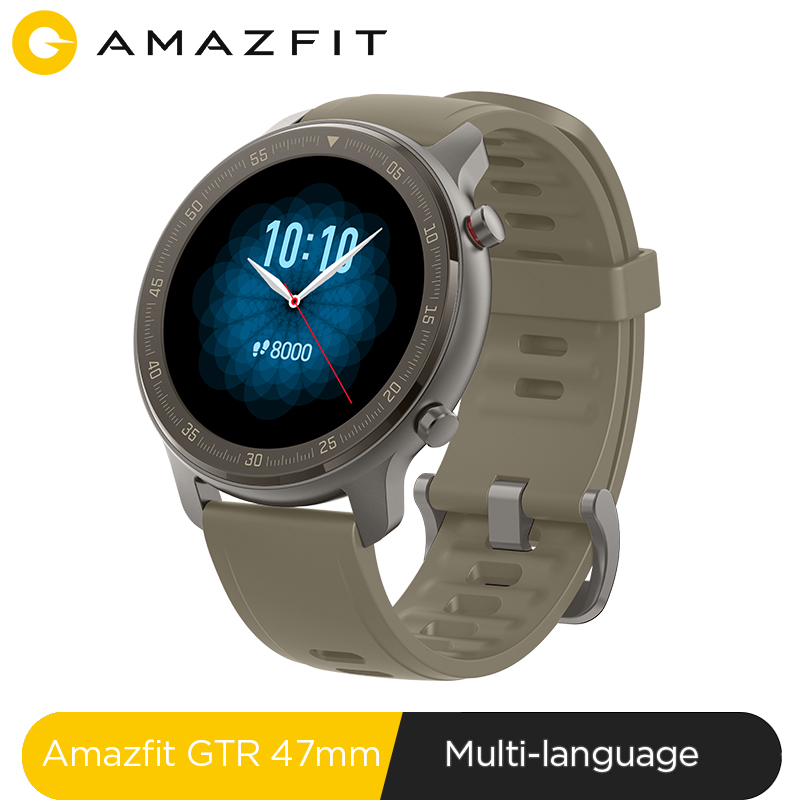 Глобальная версия Amazfit GTR 47 мм Смарт-часы 5ATM Новые смарт-часы 24 дня управление музыкой батареи для Xiaomi Android IOS Phone