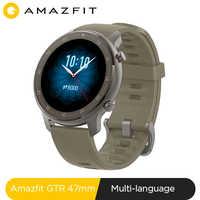 Globalna wersja Amazfit GTR 47mm inteligentny zegarek 5ATM nowy smartwatch 24 dni sterowanie muzyką baterii dla Xiaomi android ios telefon