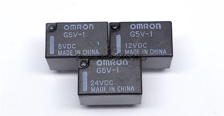 5PCS/LOT Omron G5V-1-5VDC G5V-1-12VDC G5V-1-24VDC G5V-1 5VDC 12VDC 24VDC 6Pin SPDT Mini Signal Relay For PCB