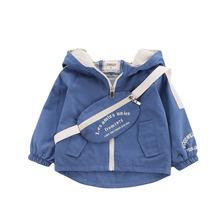Куртка с капюшоном для маленьких мальчиков и девочек повседневная