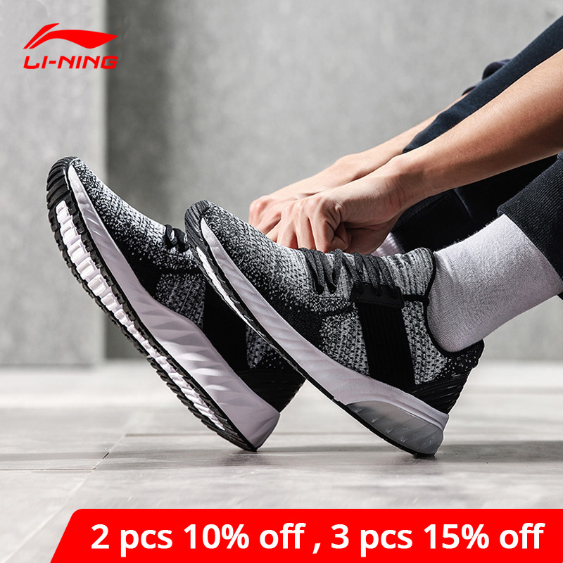 Li-Ning <font><b>Men</b></font> GEL KNIT Lifestyle <font><b>Shoes</b></font> Mono Yarn Breathable <font><b>LiNing</b></font> li ning Sport <font><b>Shoes</b></font> Wearable Anti-Slip Sneakers AGLN041 YXB132 image