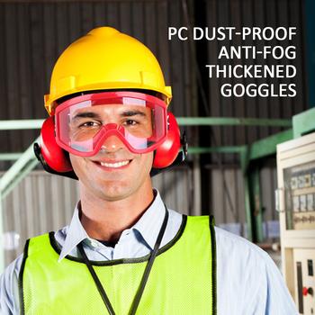 Przezroczysty ochronny okulary PC pyłoszczelne przeciwmgielne zagęszczone okulary praca na zewnątrz okulary kolor losowo nadaje się dla każdego tanie i dobre opinie Vehemo Jeden rozmiar Unisex Jasne