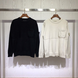 Mejor versión Ghost colección brújula Logo parcheado mujeres hombres suéter Pullover hombres Casual moda suéteres