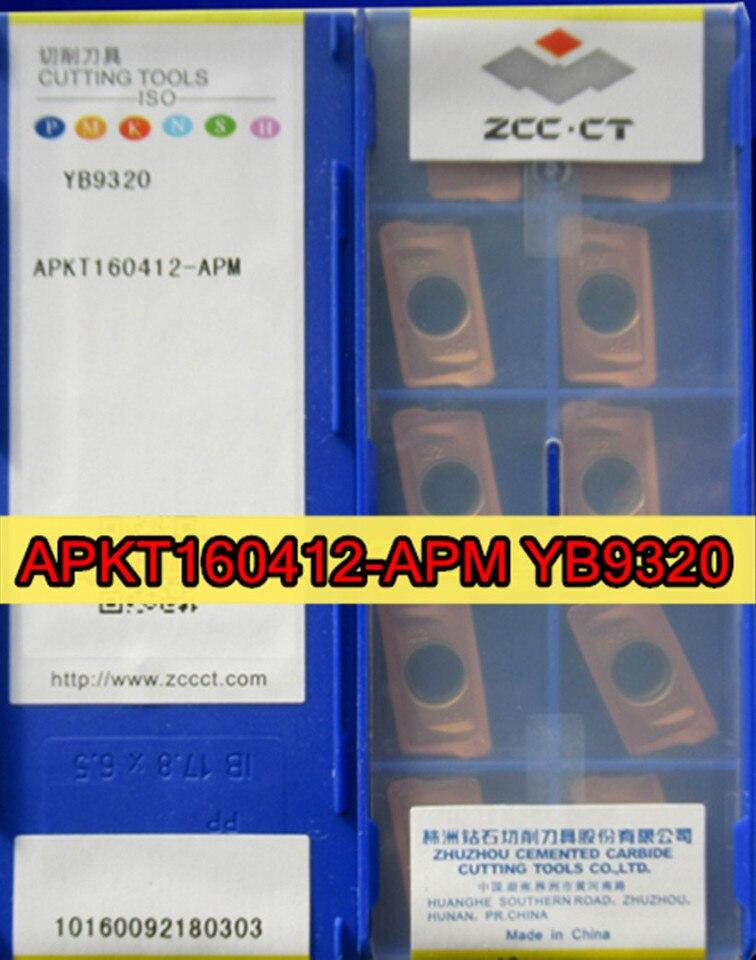 ZCC.CT APKT160412-APM YB9320 10PCS CARBIDE INSERTS