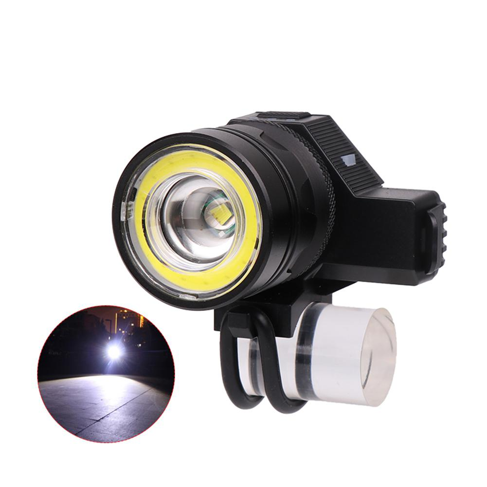 T6+COB USB Rechargeable LED Bike Mechanical Zoom Front Light Bicycle Accessories Night Riding Lights