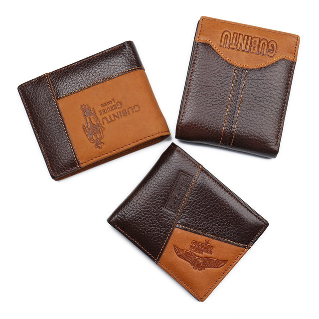 H7c78991f160d4ee98d861eab4297ff19Q - GUBINTU Genuine Leather Men Wallets Coin Pocket Zipper Real Men's Leather Wallet with Coin High Quality Male Purse cartera