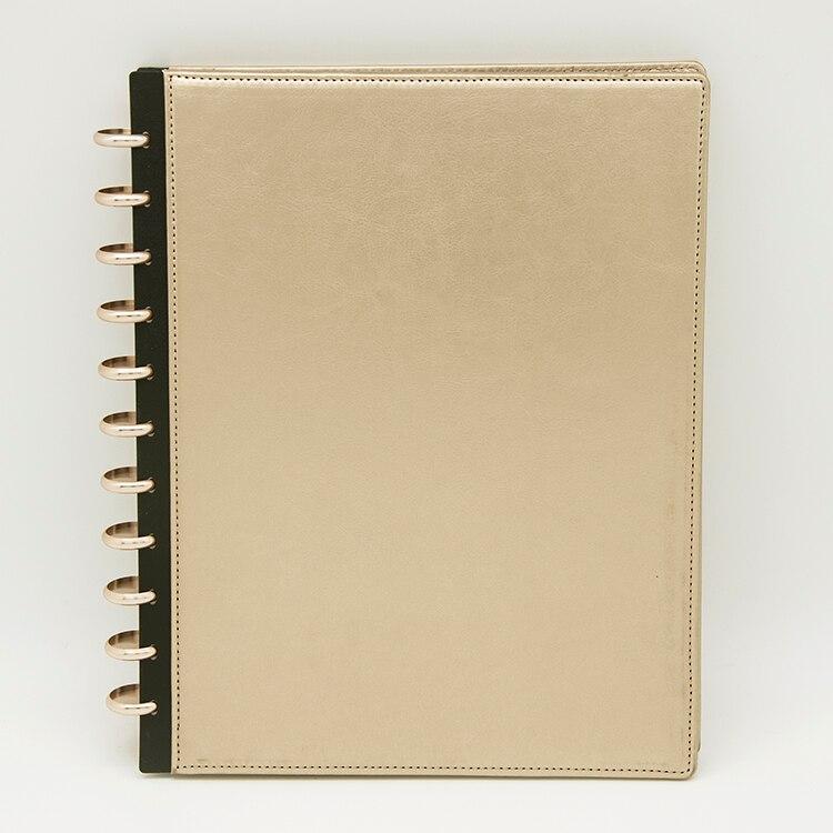 A4 livre d'information couverture en cuir disque à feuilles mobiles reliure Document contrat Photo stockage affichage hôtel Menu fichier organisateur