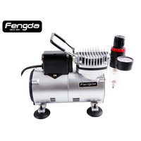 Airbrush compressor body painting cake decorate LS18-2S with cool-down fan DIY hobby model paint art FENGDA