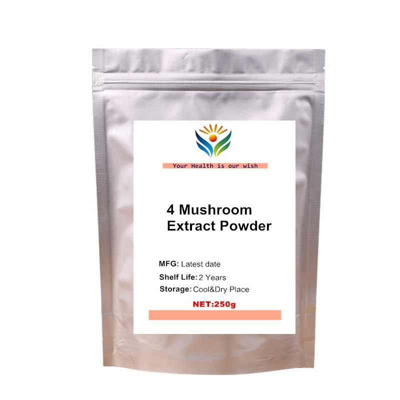 Organic Mushroom Superfood Blend Powder- Reishi Lion's Mane Cordyceps Chaga Extract image