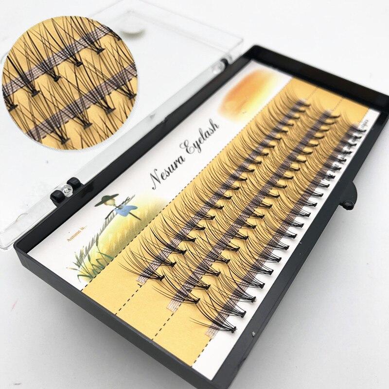 1 коробка из 60 наращиваемых ресниц, накладные ресницы, натуральные Индивидуальные ресницы, маленькие ресницы, инструменты для наращивания р...