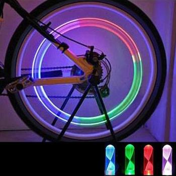 2Pcs Bike Lamp Night riding Cycling lighting Bike Car Motorcycle Wheel Tire Valve LED Flash Lights Cycling Lantern Spokes image