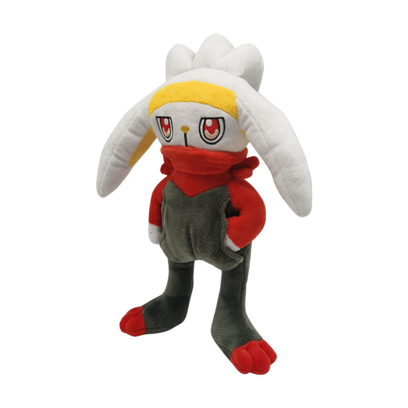 1pcs 28cm TAKARA TOMY Pokemon Scorbunny  Plush Toys Soft Stuffed Animals Toys Doll Gifts for Children Kids 2